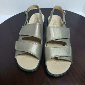 Hotter Metallic Bronze Slingback Wedge Sandals 11